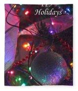 Ornaments-2136-happyholidays Fleece Blanket