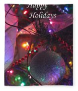 Ornaments-2143-happyholidays Fleece Blanket