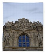 Ornate Architectural Artwork On The Musee Du Louvre Buildings In Paris France  Fleece Blanket