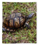 Box Turtle Fleece Blanket