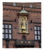 Ornate Building Artwork In Copenhagen Fleece Blanket