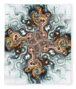 Ornate Cross Fleece Blanket