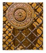 Ornate Door Knob Fleece Blanket