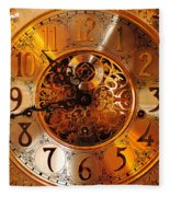 Ornate Timekeeper Fleece Blanket
