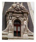 Ornate Window Of City Hall Philadelphia Fleece Blanket