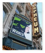Orpheum Sign Fleece Blanket