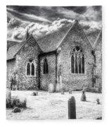 Orsett Church Essex England Fleece Blanket