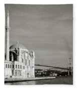 Ortakoy Mosque  Fleece Blanket