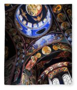 Orthodox Church Interior Fleece Blanket