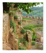 Orvieto Battlement Fleece Blanket