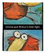 Orville And Wilburs First Flight Fleece Blanket