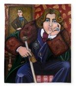Oscar Wilde And The Picture Of Dorian Gray Fleece Blanket