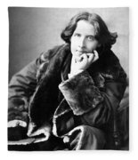 Oscar Wilde In His Favourite Coat 1882 Fleece Blanket