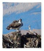 Osprey And Catch Fleece Blanket