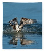 Osprey Getting Out Of The Water Fleece Blanket