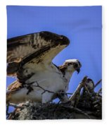 Osprey In The Nest Fleece Blanket
