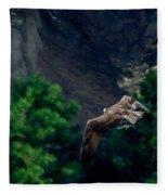 Osprey With Fish Fleece Blanket