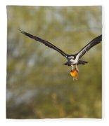 Osprey With Goldfish Fleece Blanket