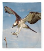 Osprey With Talons Extended Fleece Blanket