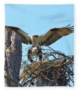 Ospreys Copulating In New Nest3 Fleece Blanket