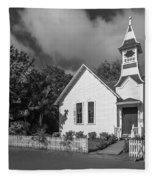 Oysterville Church Fleece Blanket