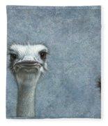 Ostriches Fleece Blanket