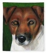 Otis Jack Russell Terrier Fleece Blanket