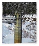 Otter Brook Dam Fleece Blanket