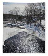 Otter Brook Scene Fleece Blanket