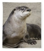 Otter North American  Fleece Blanket