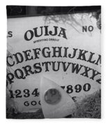 Ouija Board Queen Mary Ocean Liner Bw Fleece Blanket