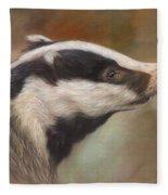 Our Friend The Badger Fleece Blanket