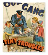 Our Gang Vintage Movie Poster 1930s Fleece Blanket