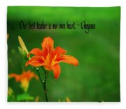 Our Heart Teaches Fleece Blanket