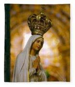 Our Lady Of Fatima Fleece Blanket