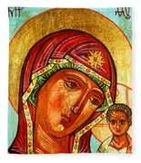 Our Lady Of Kazan Fleece Blanket