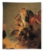 Our Lady Of Mount Carmel  Fleece Blanket