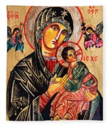 Our Lady Of Perpetual Help Icon Fleece Blanket