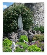 Our Lady Of The Woods Shrine Lll Fleece Blanket