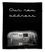 Our New Address Announcement Card Fleece Blanket