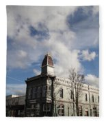 Our Town - Grants Pass In Old Town Fleece Blanket