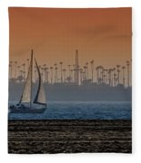 Out For A Sail Fleece Blanket