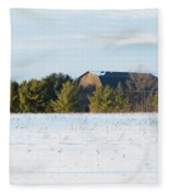 Out In The Snow Fleece Blanket