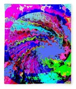 Out Of The Blue Wave Abstract Fleece Blanket