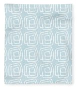 Out Of The Box Blue And White Pattern Fleece Blanket