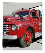 Out Of The Photo Fire Truck Fleece Blanket