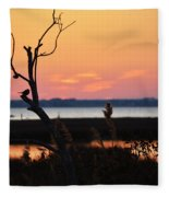 Ocean City Sunset Out On A Limb Fleece Blanket