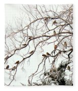 Out On A Limb First Snow Fleece Blanket