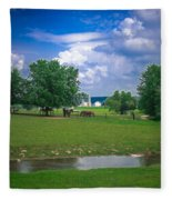 Out To Pasture Fleece Blanket
