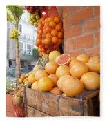 Outdoor Fruit Juice Stall  Fleece Blanket
